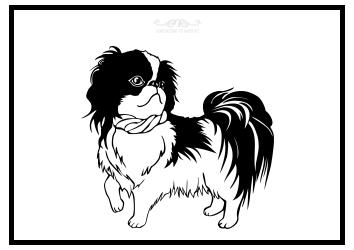 Hund als Ausmalbild